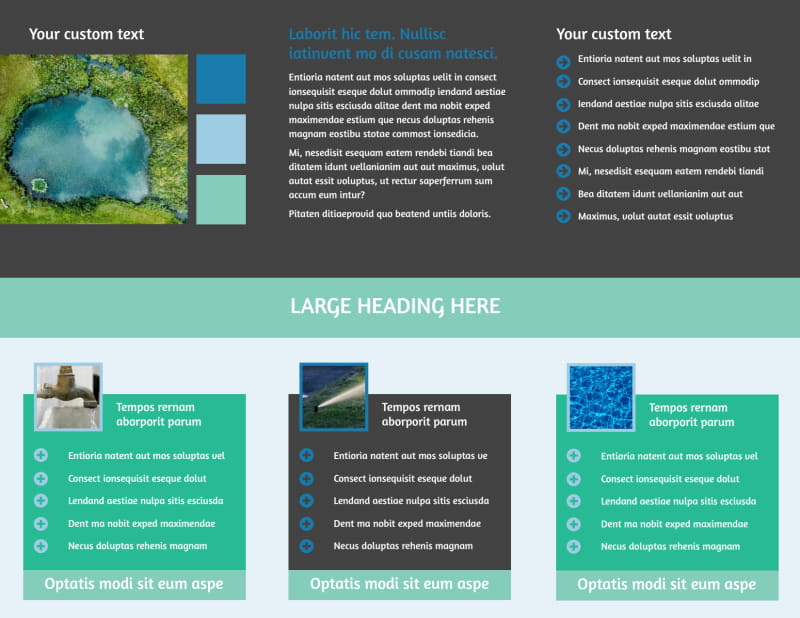 Water Disposal Brochure Template Preview 3