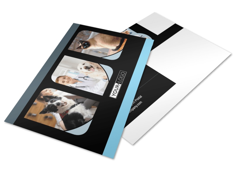Veterinary Clinic Postcard Template Preview 4