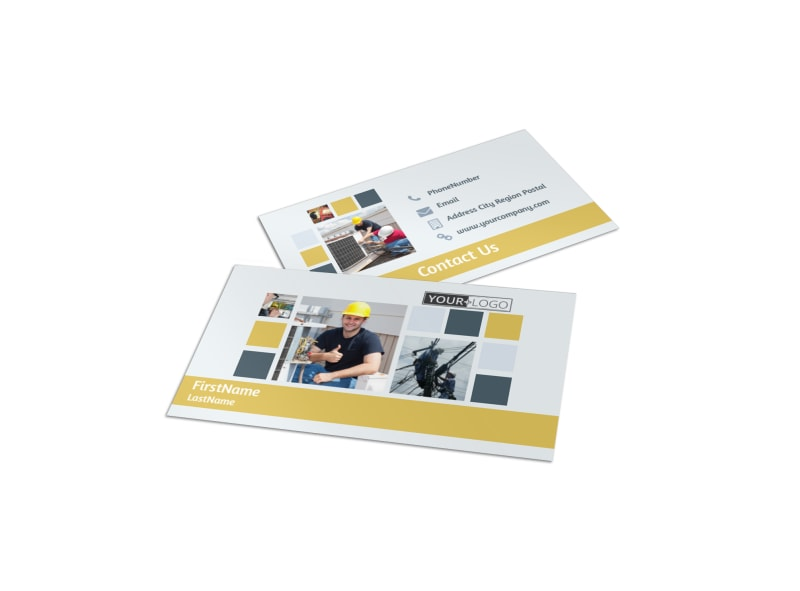 Electrical Service Business Card Template Preview 4