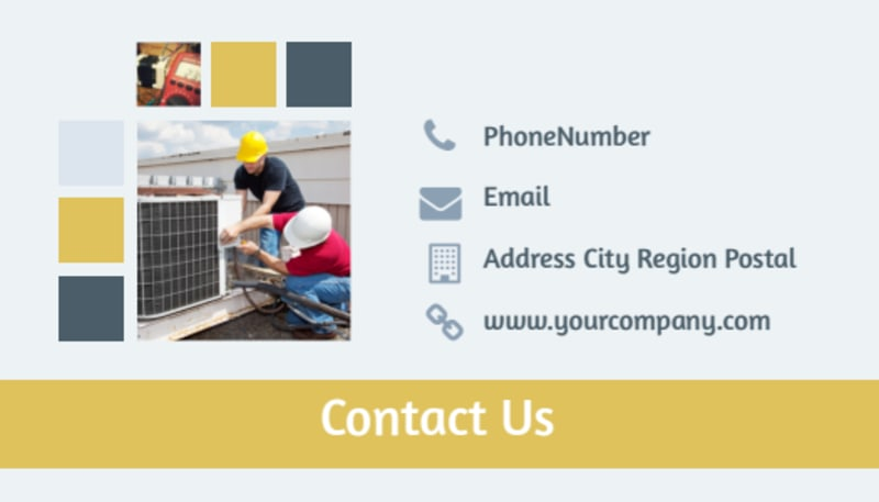 Electrical Service Business Card Template Preview 3