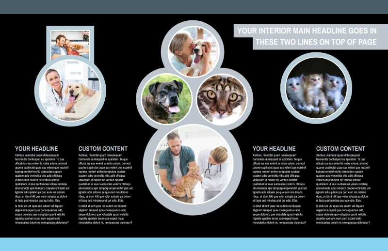 Veterinary Clinic Brochure Template Preview 3