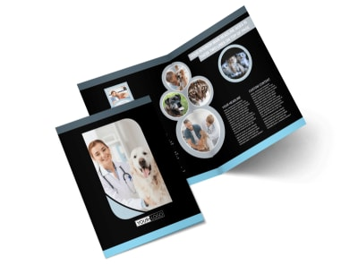 Veterinary Clinic Bi-Fold Brochure Template 2