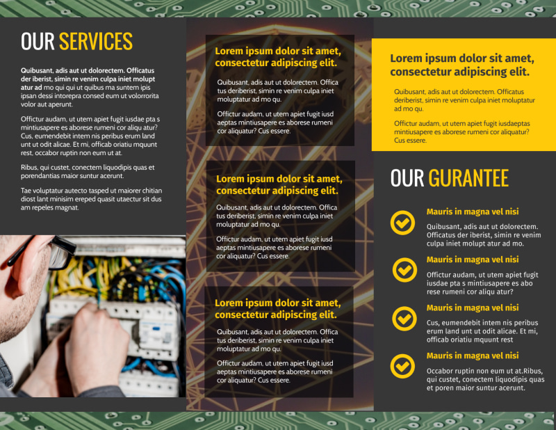 Electrical Service Brochure Template Preview 3