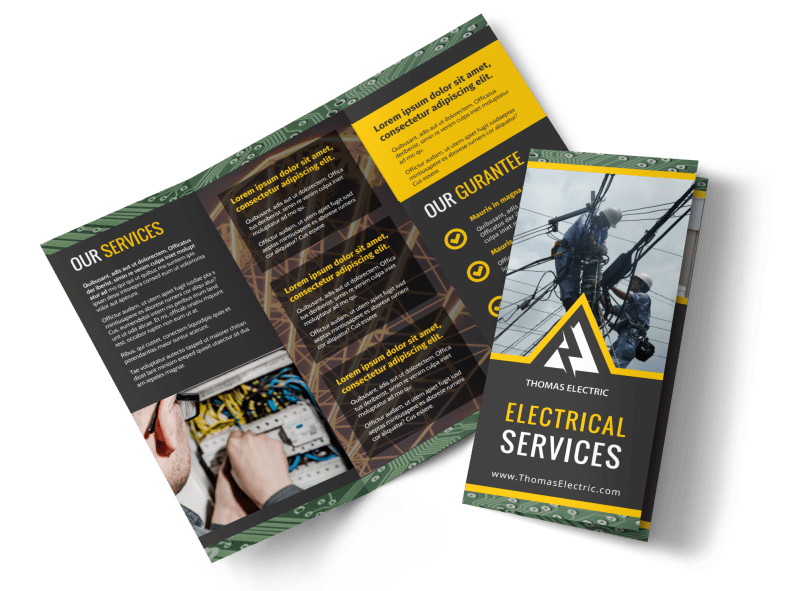 Electrical Service Brochure Template Preview 1
