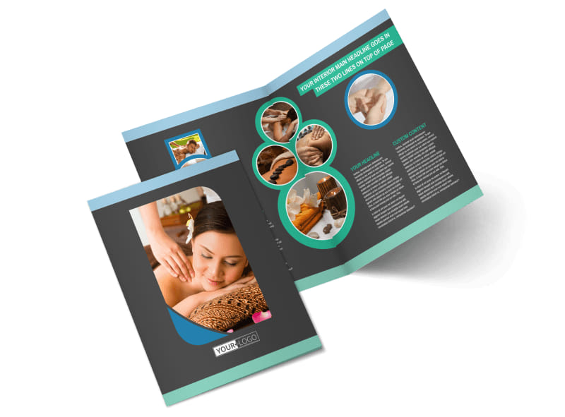 Massage Therapy Spa Bi-Fold Brochure Template 2