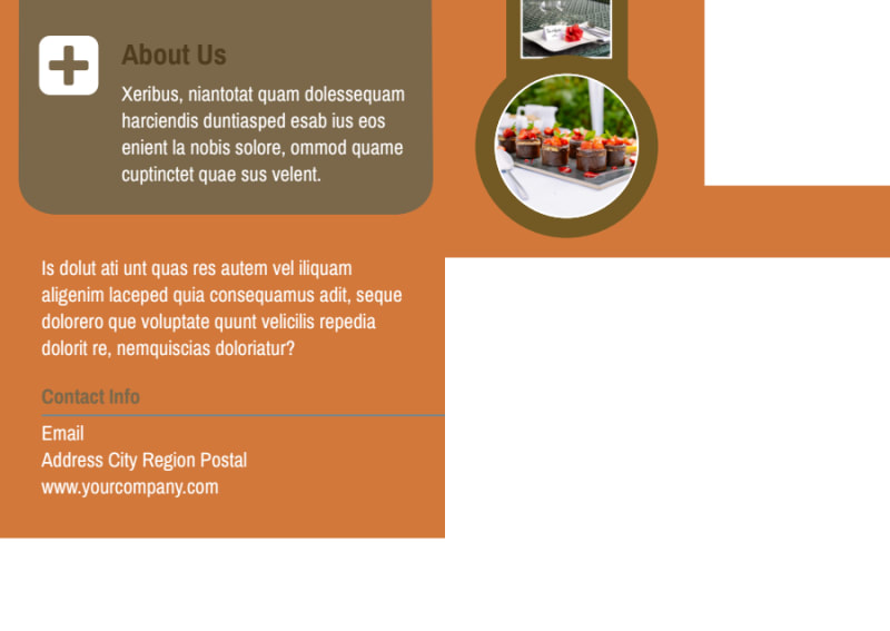 Catering Service Postcard Template Preview 3