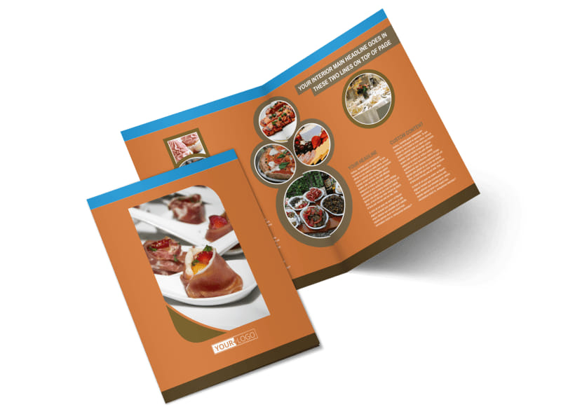 Catering Service Bi-Fold Brochure Template 2