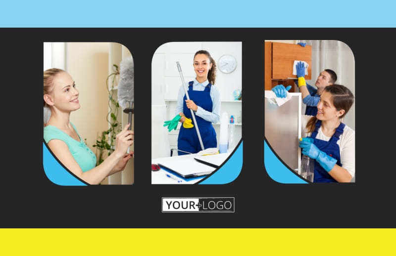 Commercial Cleaning Service Postcard Template Preview 2