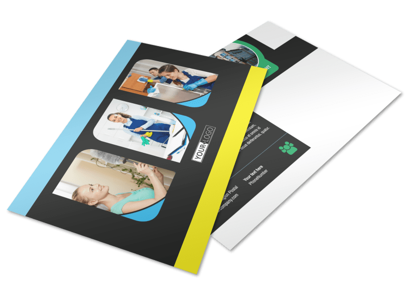 Commercial Cleaning Service Postcard Template Preview 1