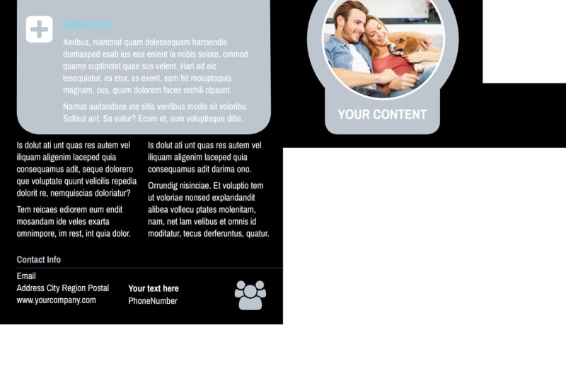 Veterinary Clinic Postcard Template Preview 3