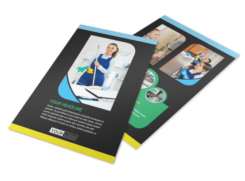 Commercial Cleaning Service Flyer Template MyCreativeShop
