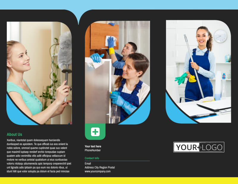 Commercial Cleaning Service Brochure Template Preview 2
