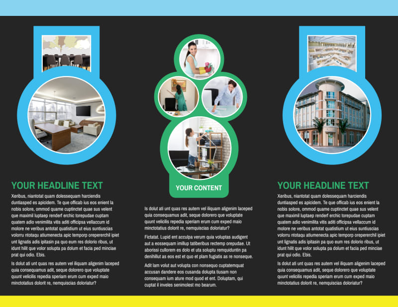 Commercial Cleaning Service Brochure Template Preview 3