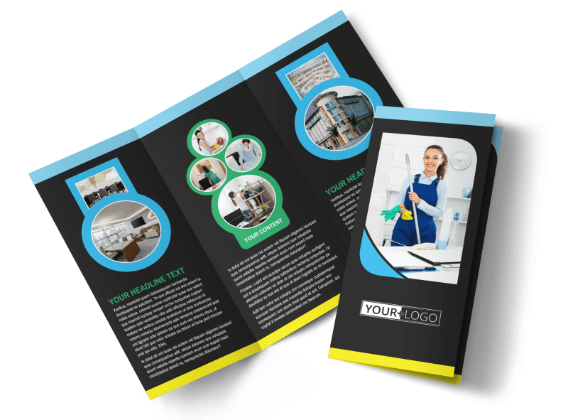Commercial Cleaning Service Brochure Template Preview 1