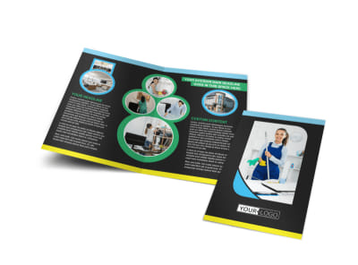 Commercial Office Cleaning Bi-Fold Brochure Template