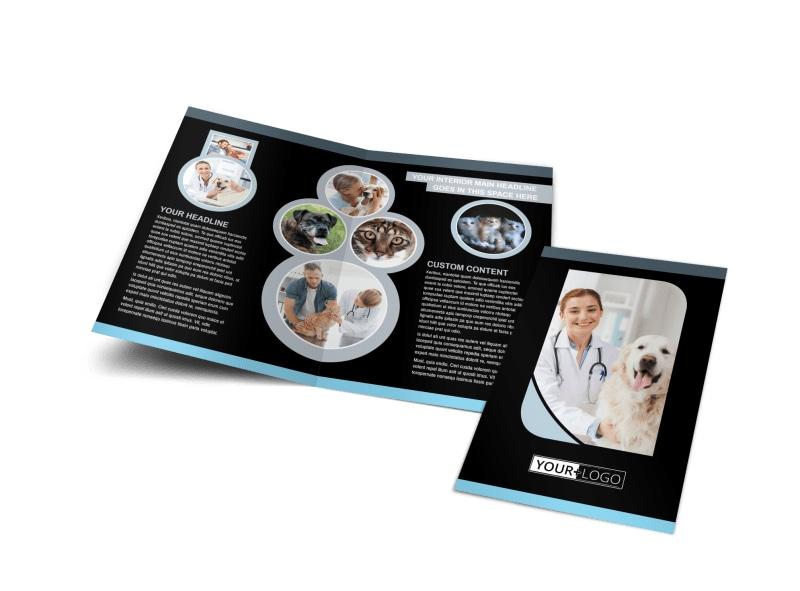Veterinary Clinic Bi-Fold Brochure Template