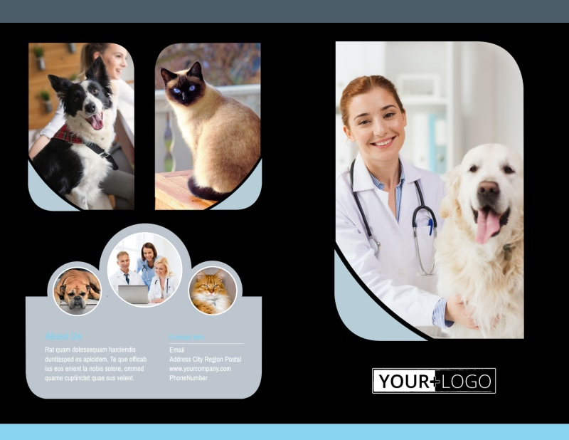 Veterinary Clinic Brochure Template Preview 2