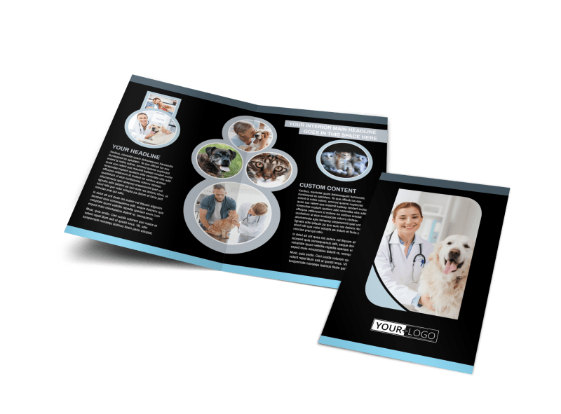 Veterinary Clinic Brochure Template Preview 1