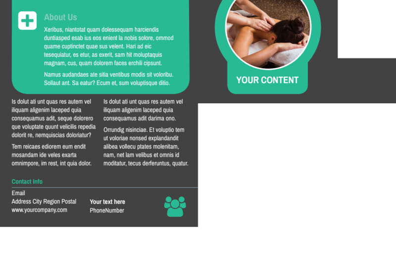 Massage Therapy Spa Postcard Template Preview 3
