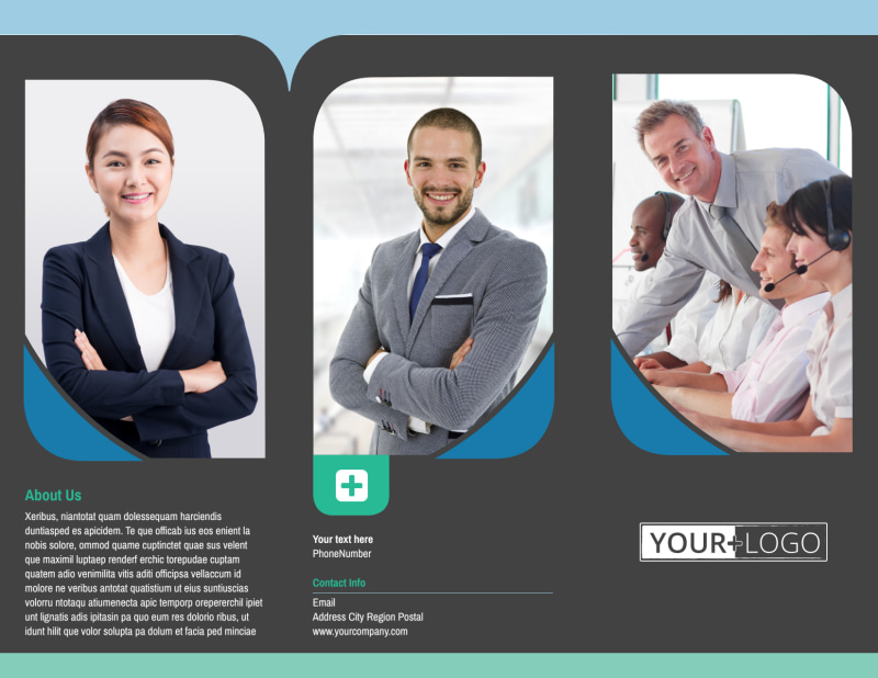Call Center Service Brochure Template Preview 2