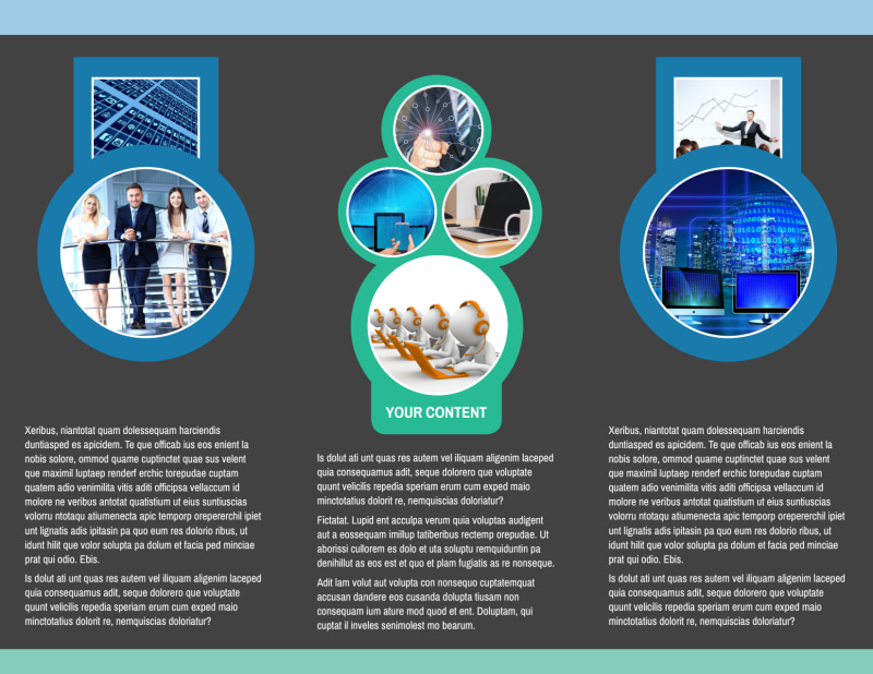 Call Center Service Brochure Template Preview 3