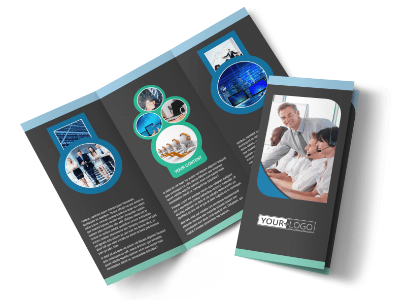 Call Center Service Brochure Template Preview 1