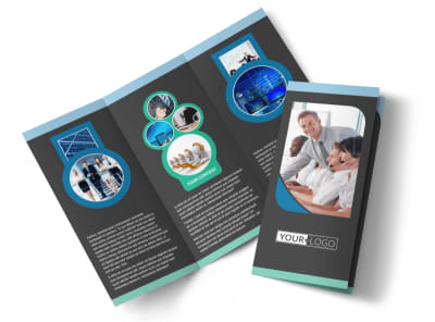 Call Center Service Tri-Fold Brochure Template