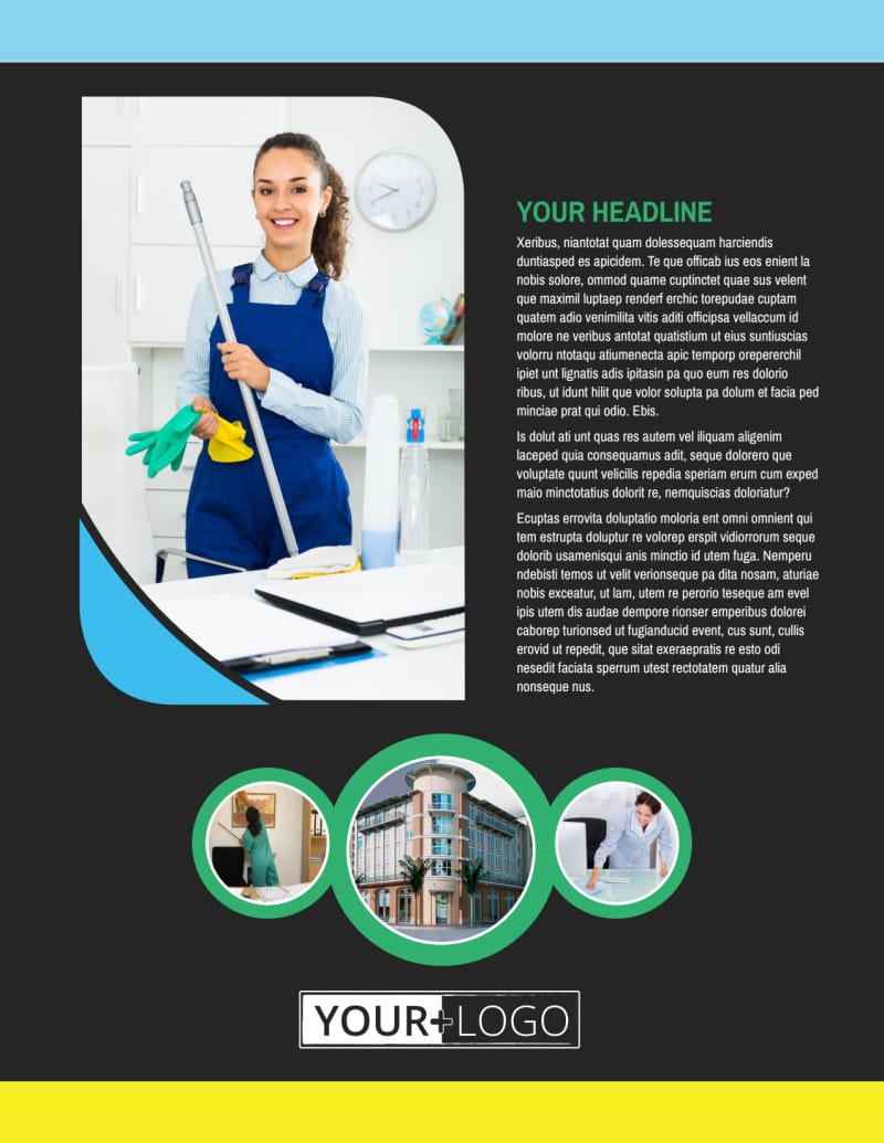 Commercial Cleaning Service Flyer Template Preview 2