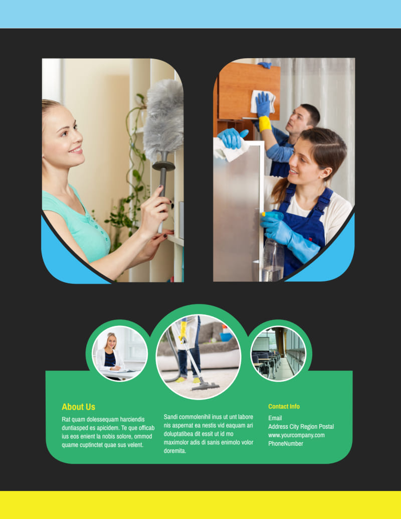 Commercial Cleaning Service Flyer Template Preview 3
