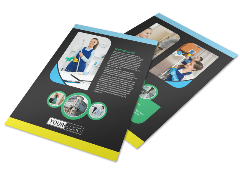 Commercial Cleaning Service Flyer Template Preview 1