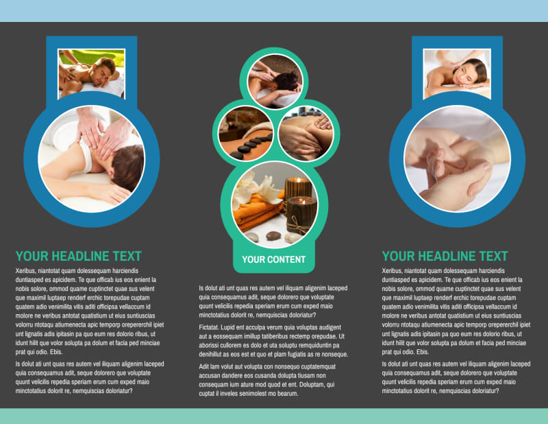 Massage Therapy Spa Brochure Template Preview 3