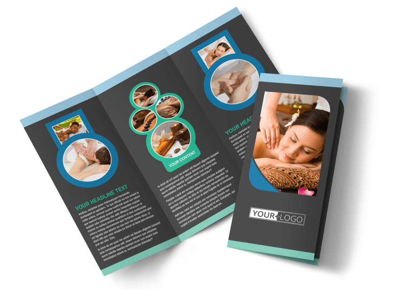 Massage Therapy Spa Brochure Template Preview 1