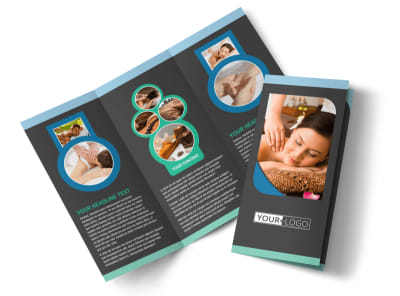 Massage Therapy Spa Tri-Fold Brochure Template preview