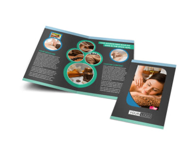 Massage Therapy Spa Bi-Fold Brochure Template preview