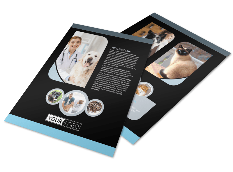 Veterinary Clinic Flyer Template Preview 1