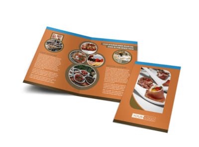 Catering Service Bi-Fold Brochure Template preview