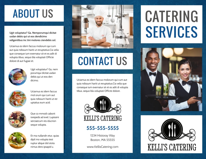 Catering Service Brochure Template Preview 2