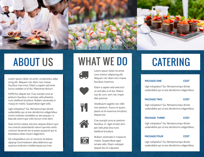 Catering Service Brochure Template Preview 3