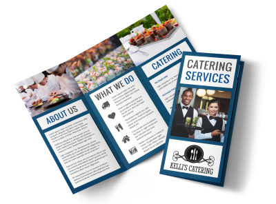 Catering Service Tri-Fold Brochure Template preview
