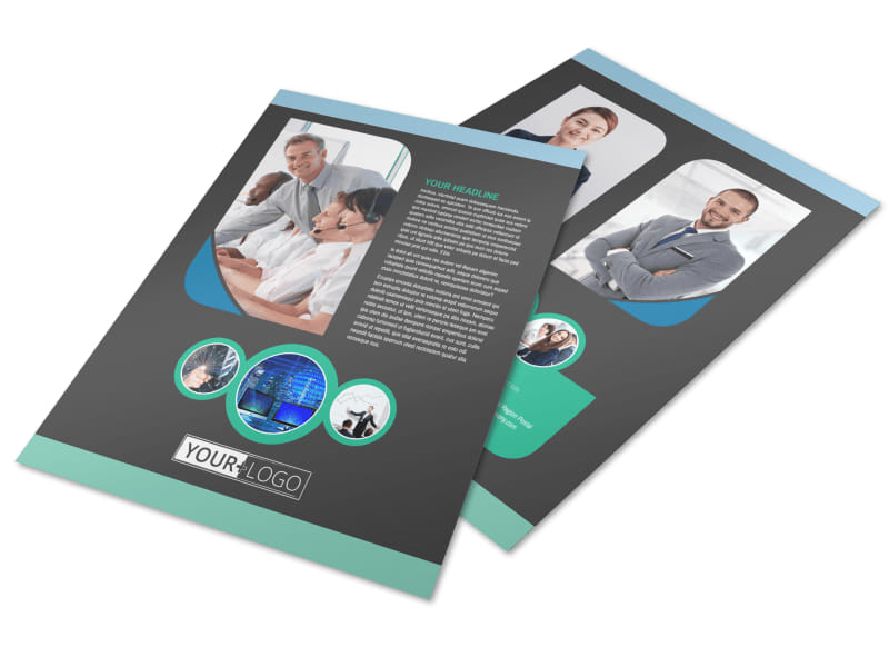 Call Center Service Flyer Template Preview 4