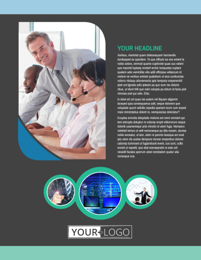 Call Center Service Flyer Template Preview 1