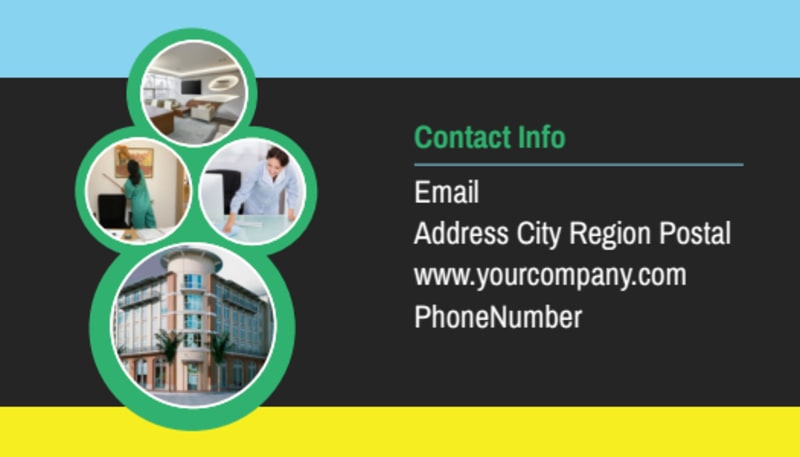 Commercial Cleaning Service Business Card Template ...