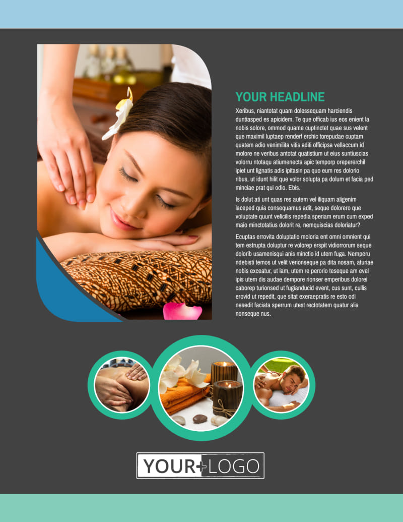 Massage Therapy Spa Flyer Template Preview 2