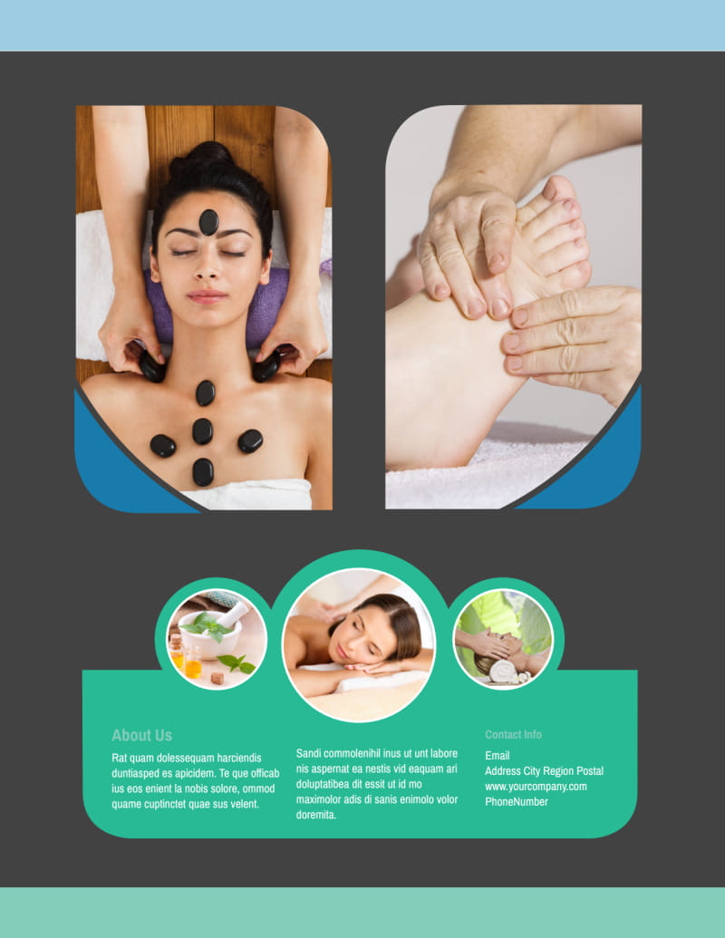 Massage Therapy Spa Flyer Template Preview 3