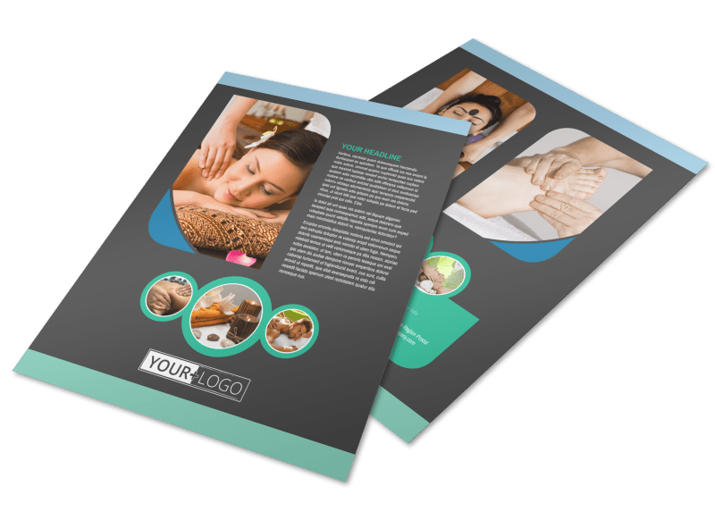Massage Therapy Spa Flyer Template Preview 1