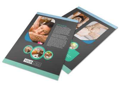 Massage Therapy Spa Flyer Template preview