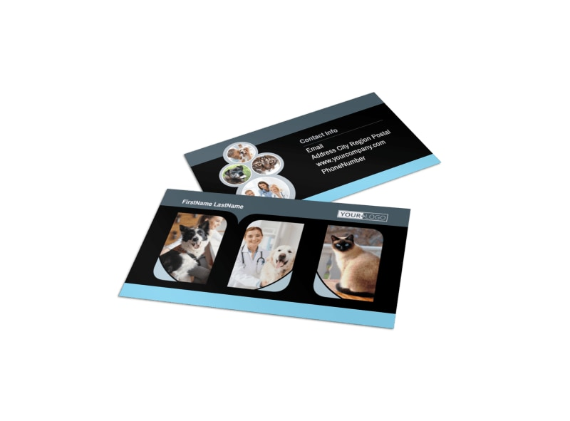 Veterinary Clinic Business Card Template
