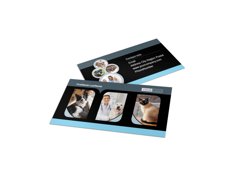 Veterinary Clinic Business Card Template Preview 1