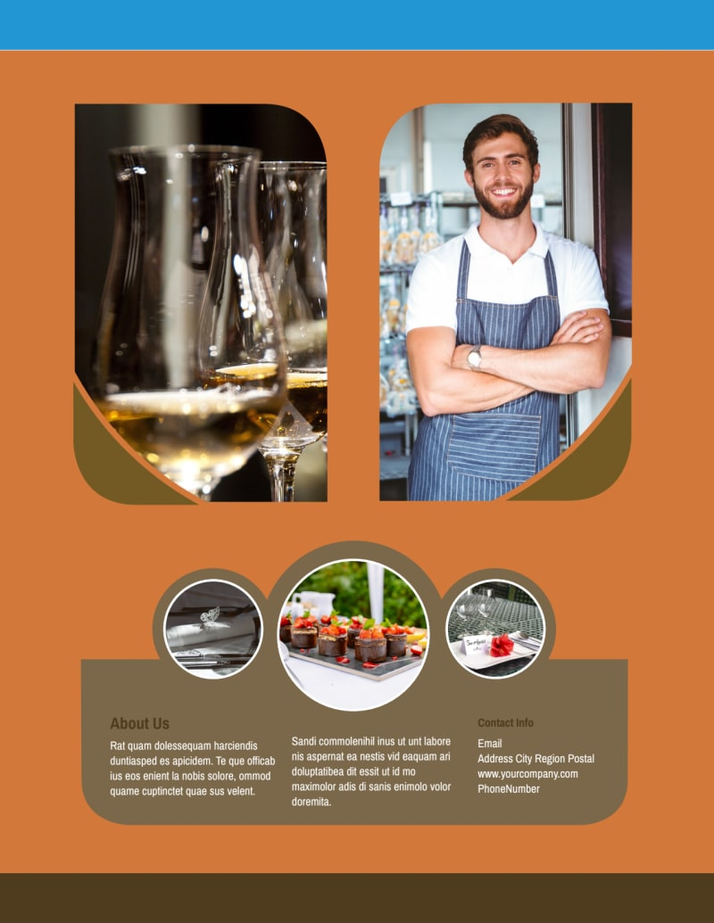 Catering Service Flyer Template Preview 3