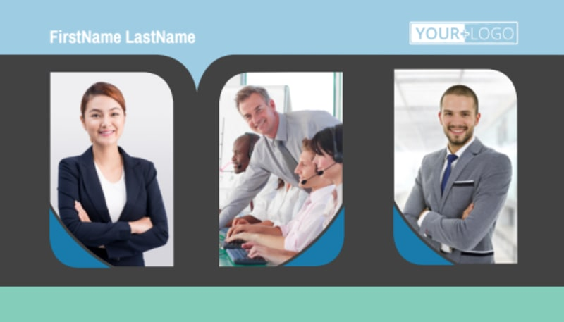 Call Center Service Business Card Template Preview 2